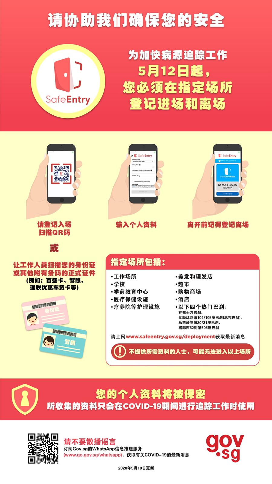 SafeEntry Digital Check-in System - Chinese